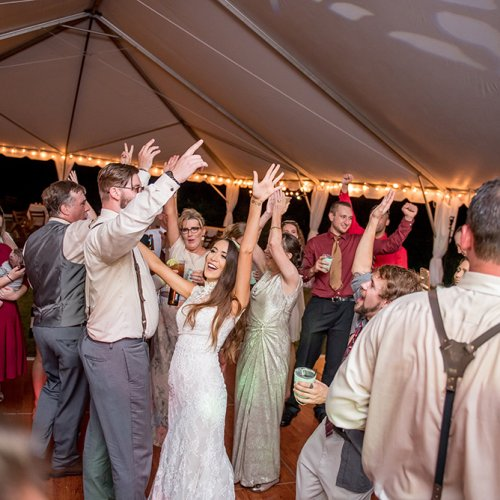 Wood Wedding Dancing